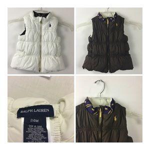 Ralph Lauren Reversible 24 month Puffer Vest